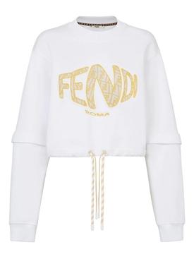 X Sarah Coleman Fisheye Logo Sweatshirt White
