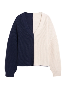 Navy and Off-white Sweater