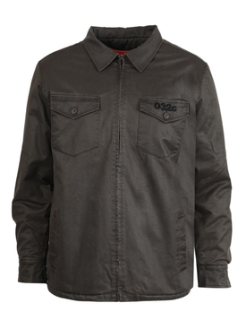 WAXED DENIM MILITARY SHIRT
