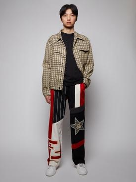 FF Motif Denim Jacket, Bamboo and Black
