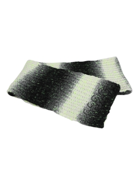 White and Black Pixel Scarf