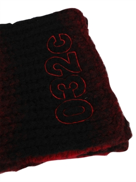 Black and Red Pixel Scarf