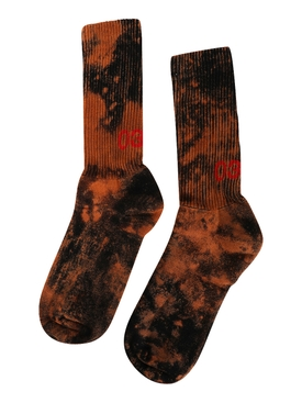 Black Bleached Logo Socks