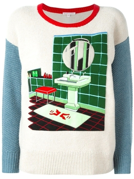 multicolor felt bathroom patch jumper