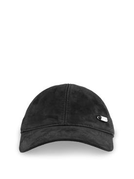 METAL DETAILS PADDED CAP BLACK