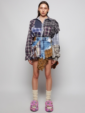 SUSTAINABLE UPCYCLED ONE OF A KIND CHECK SHIRT