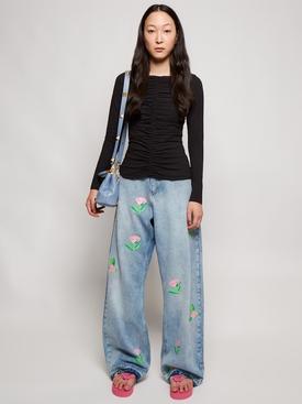 Rosa Wide-leg Denim Jeans Blue