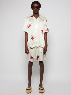 Fine Wine Silk Shorts Ivory
