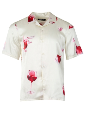 Fine Wine Silk Short-sleeve Shirt Ivory