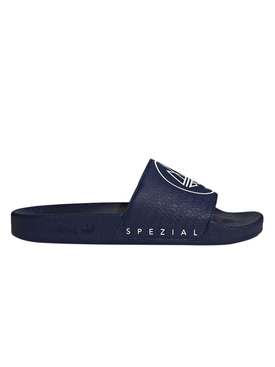 X NEW ORDER Navy ADILETTE slide sandals