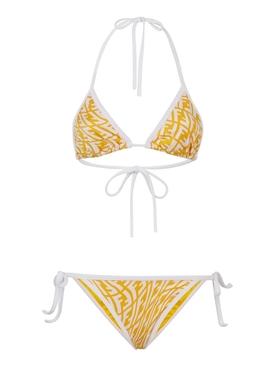 X Sarah Coleman Fisheye Logo Bikini Yellow