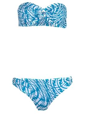 X Sarah Coleman Vertigo Logo Bikini Blue