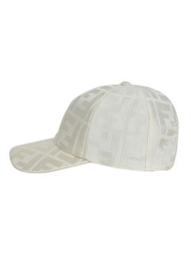 Tonal logo print baseball cap AVORIO IVORY