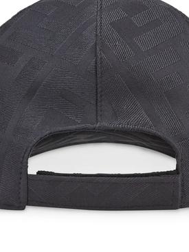 Tonal logo print baseball cap BLACK