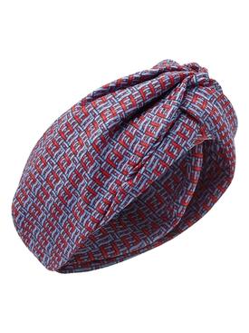 WovenFabric Effect silk turban MULTICOLOR