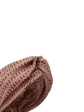 WovenFabric Effect silk turban ROSA