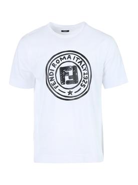 X Joshua Vides White and black logo t-shirt