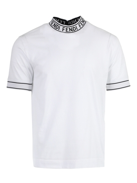 Logo tape cotton t-shirt BIANCO WHITE