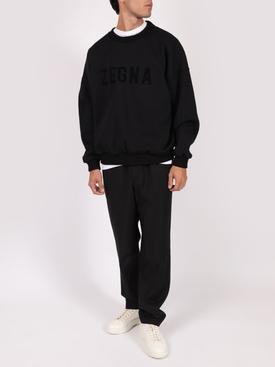 FEAROFGODZEGNA black oversized logo sweatshirt