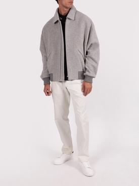 FEAROFGODZEGNA grey double collar bomber jacket