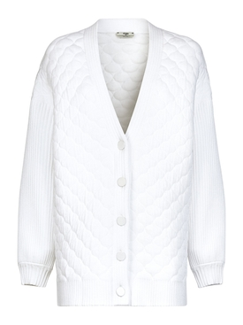 White quilted cardigan