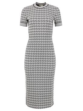 FF Logo Print Midi Dress
