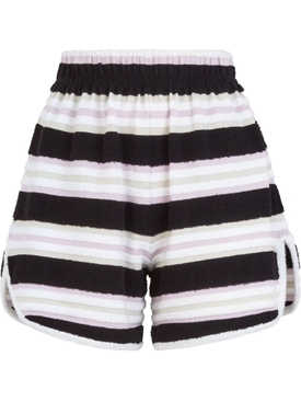 Striped towel stitch shorts