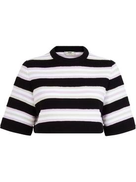 Striped pullover towel stitch top