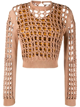 Fendi - Interlocked Knit Cropped Top - Women
