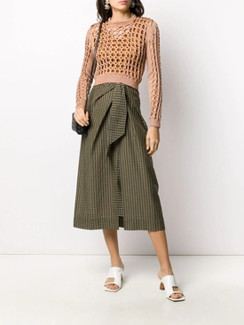 Interlocked Knit Cropped Top