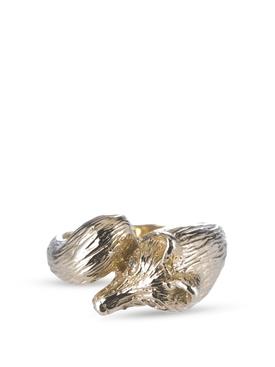 18K gold fox ring