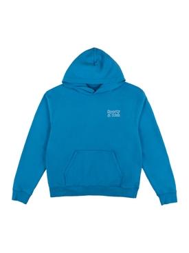 Ocean Blue & White Fun Logo Hoodie
