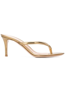 Gold metallic Mekong thong sandal