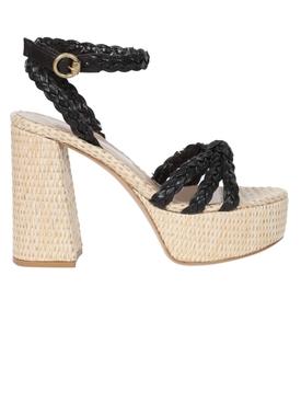 Raffia platform sandals