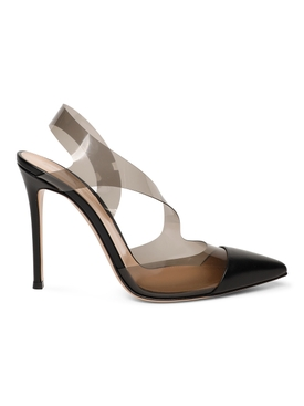 Cut-out Pointed Pumps Black Fume