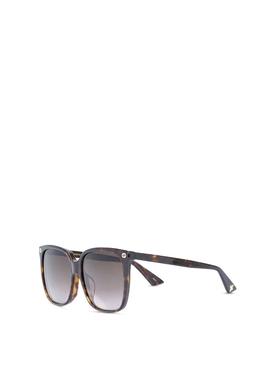 Oversize Square Sunglasses Havana Brown