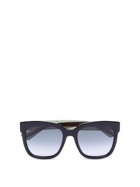 Oversize Square Sunglasses Black