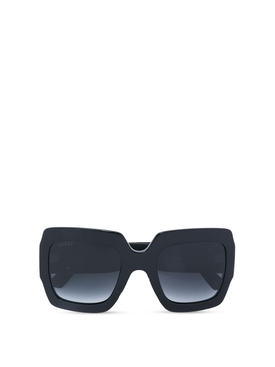 Oversize thick frame sunglasses black