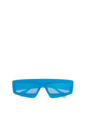 rectangular sunglasses light blue