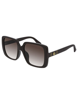 Brown Large Square Sunglasses