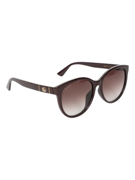 Brown Over-sized Cat-Eye Sunglasses