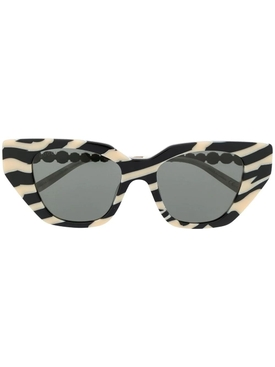 Cat-eye Zebra Print Sunglasses