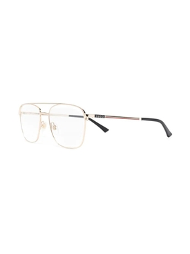 gold Square clear lense glasses