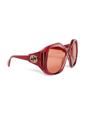 Oversized hexagon frame sunglasses