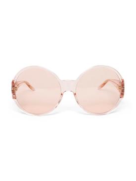 Oversized round Tonal sunglasses Pink