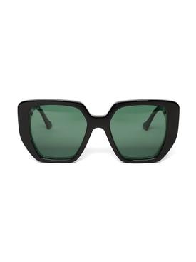 Oversized Rectangular Generation Sunglasses Green