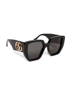 Oversized Rectangular Generation Sunglasses Black