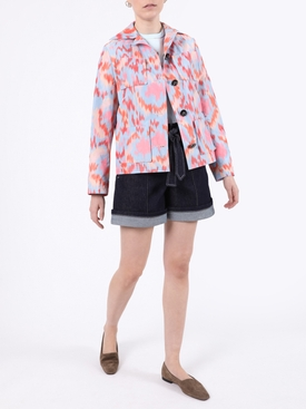 Multicolored abstract print jacket