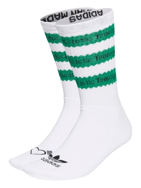 X HUMAN MADE Striped Socks, White and Green