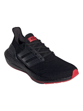 X Arsenal X 424 Ultraboost 21 AFC Sneaker, Black and Scarlet